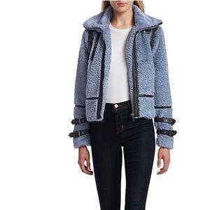DH New York Faux Fur Moto Jacket